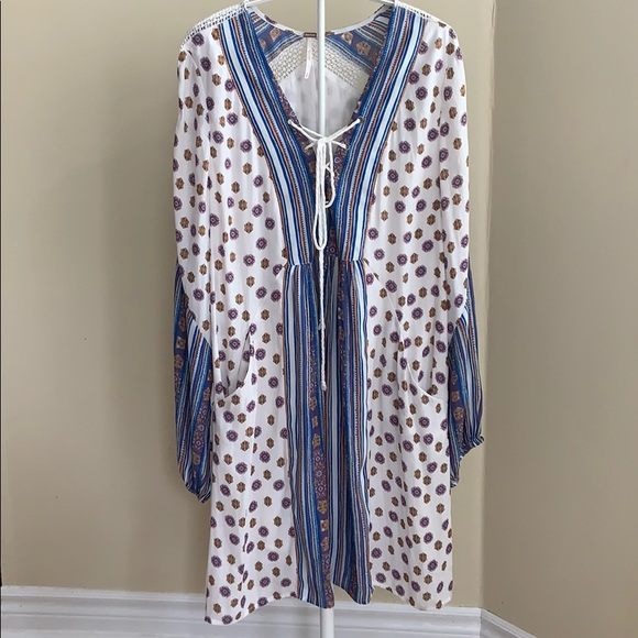 Free People Dresses & Skirts - FREE PEOPLE Bohemian Sleeved Slip Dress Size M